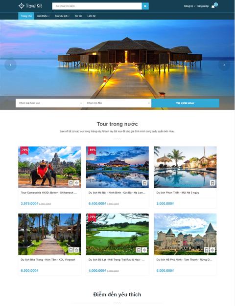 Website du lịch Coca Travel