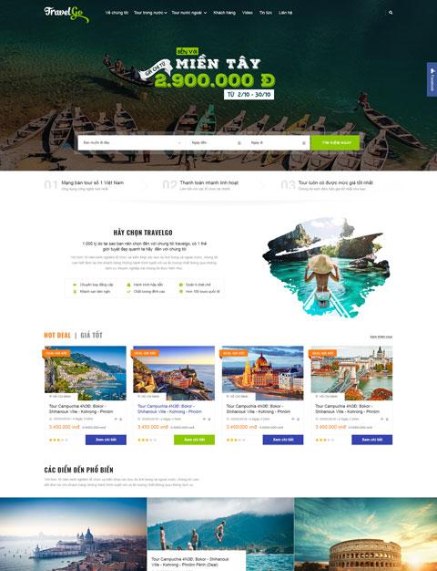 Website du lịch đẹp Travel Go