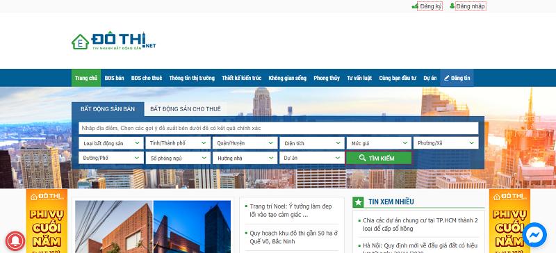 Website đăng tin nhà đất Dothi.net