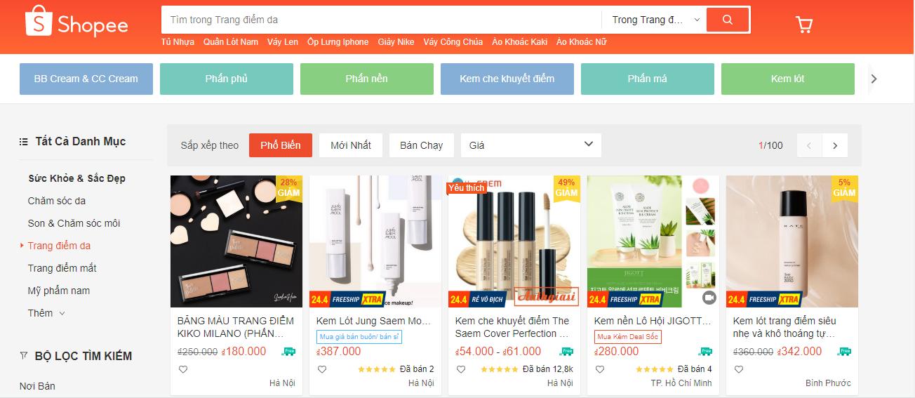 kênh bán mỹ phẩm online hiệu quả