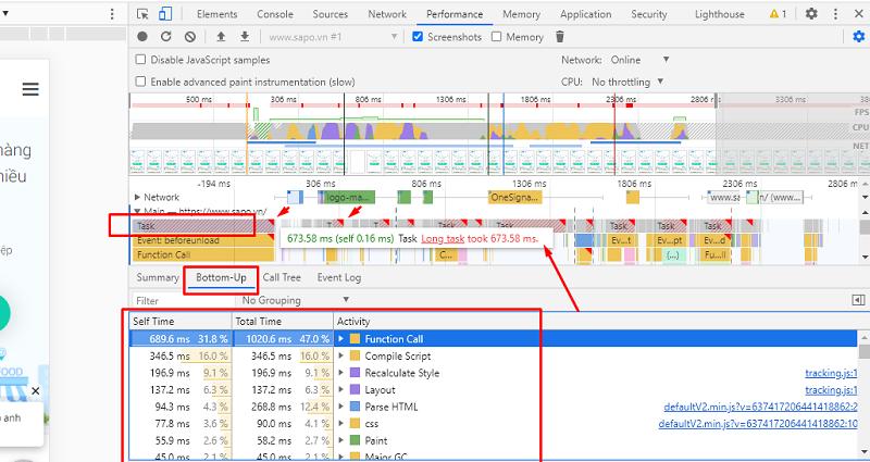 cải thiện chỉ số core web vitals