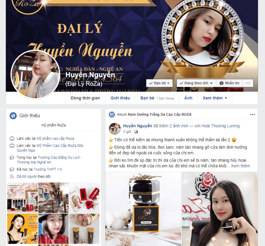 cách đăng bài bán mỹ phẩm trên facebook cá nhân