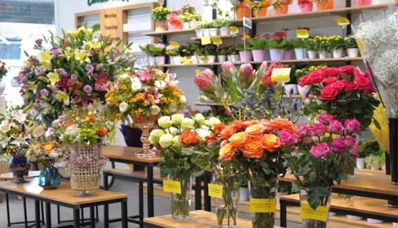 Mở cửa hàng bán hoa