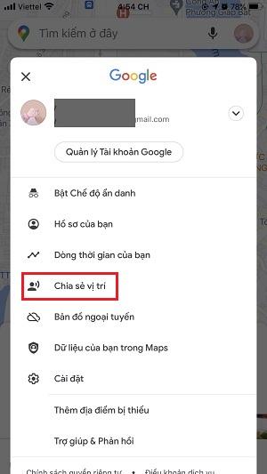 Chia sẻ vị trí của bạn bằng google maps là gì