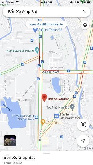 Cách xem tình trạng giao thông trên đường đi bằng google maps
