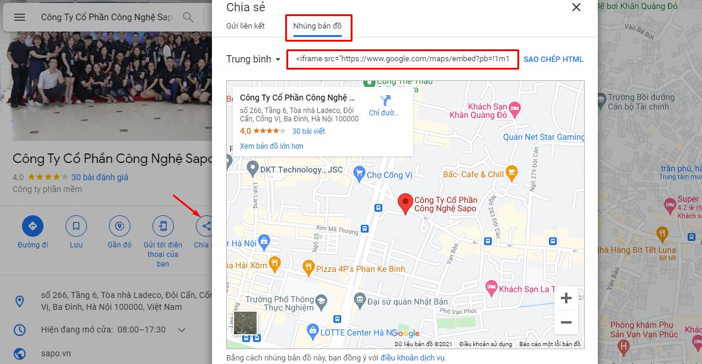 Cách tính hợp Google Maps vào website