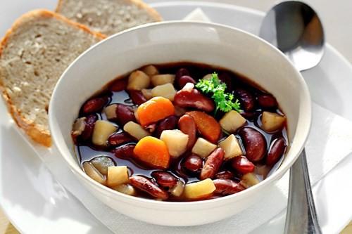 canh đậu đỏ chay là món chay ngon