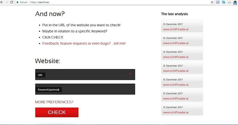 công cụ tối ưu seo website Seorch.eu