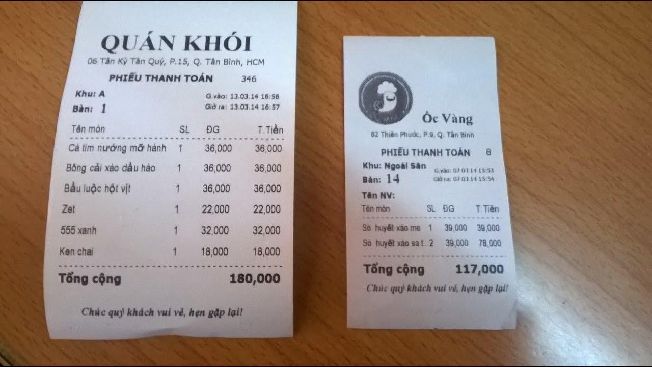 khuyến mại nhà hàng áp dụng cho từng hóa đơn
