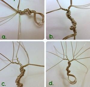 Sử dụng dây thép hoặc kẽm để uốn thân cho cây tài lộc, cách làm cây tiền thật