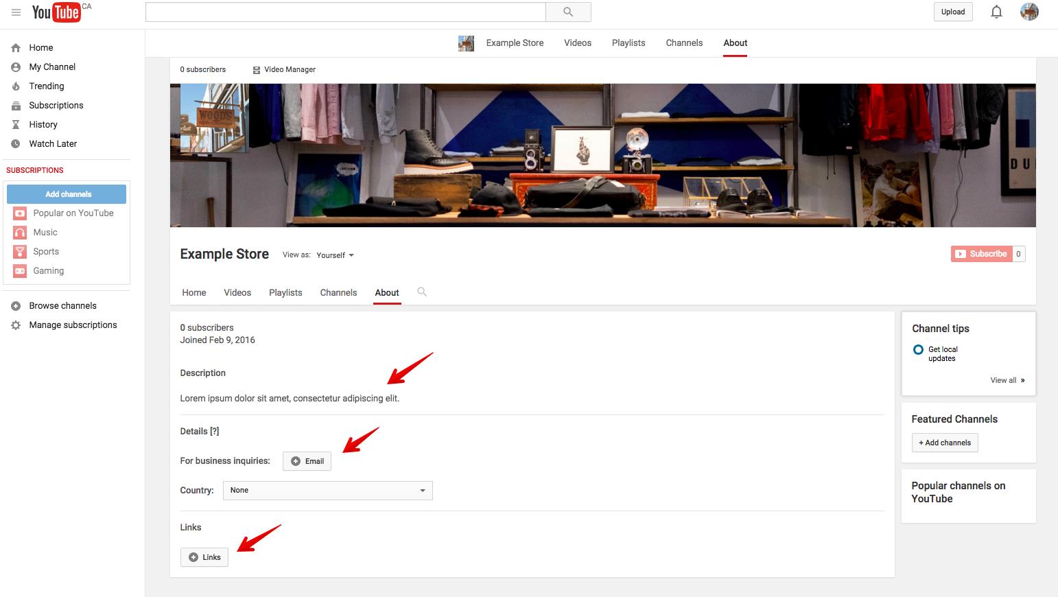 hướng dẫn tạo kênh Youtube 11