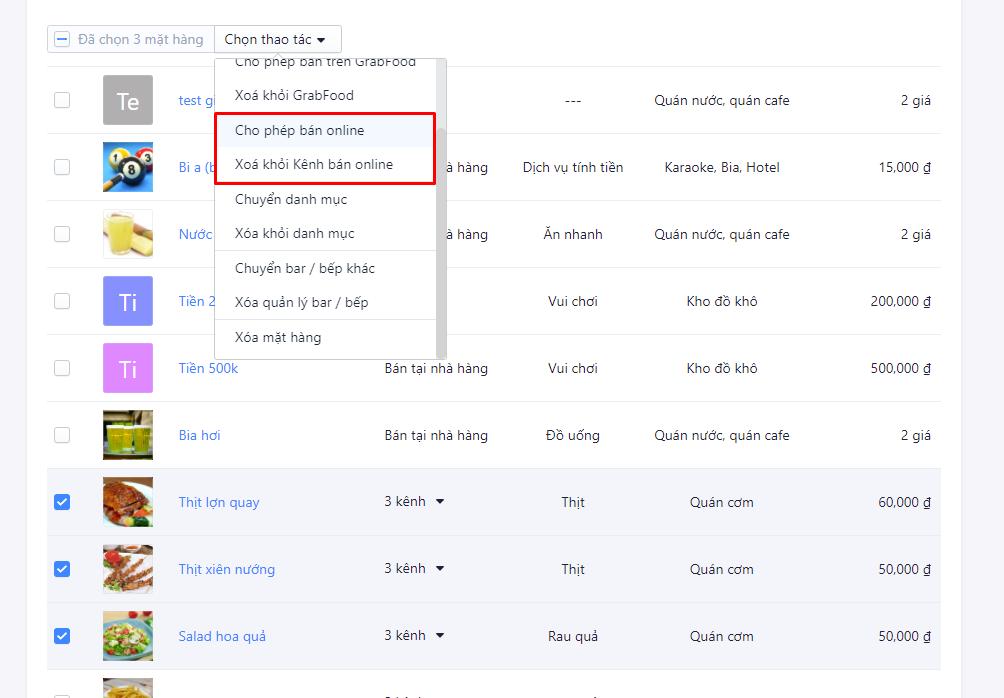 tạo menu online bằng phần mềm