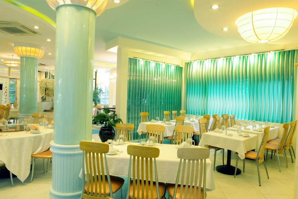 khu dành cho khách tới nhà hàng