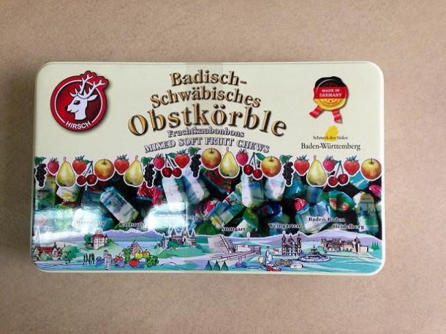 Hộp kẹo sắt Obstkorble từ Đức