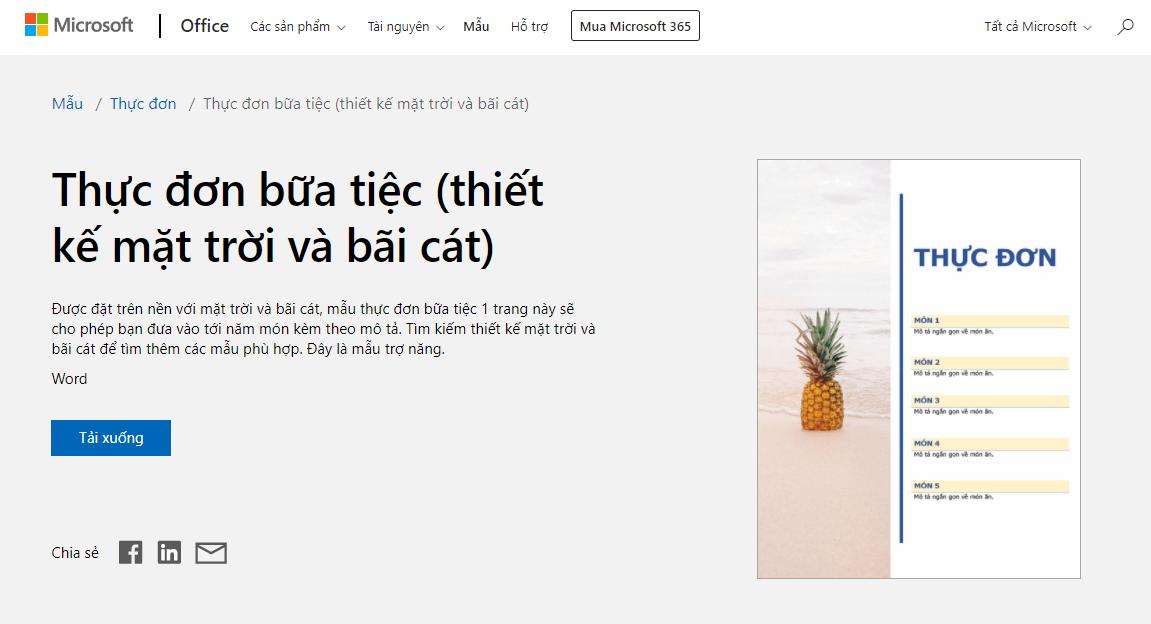 thiết kế menu online quán cafe
