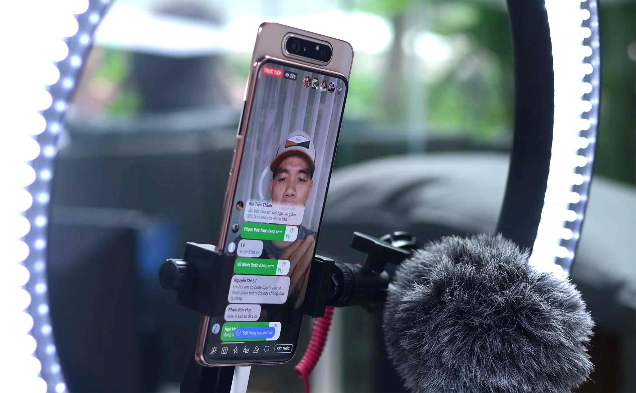 live stream fb bằng điện thoại