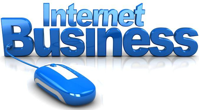 abstract 3d illustration of internet business conceptual sign