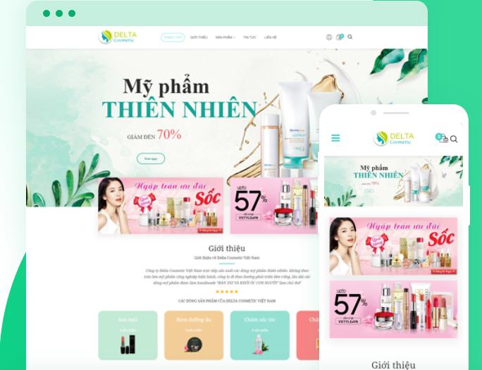 mẫu website mỹ phẩm đẹp và chuyên nghiệp