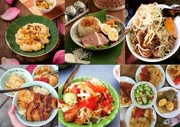 menu xôi đa dạng và hấp dẫn