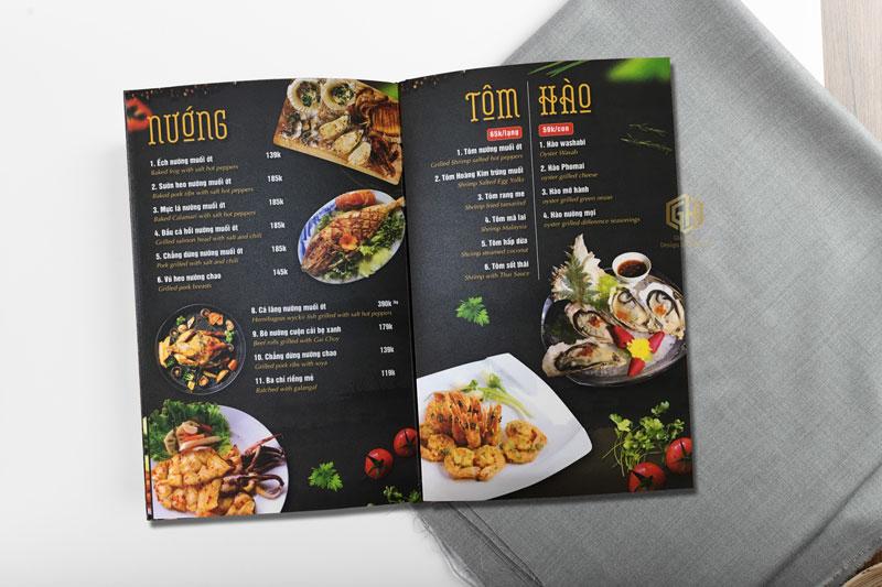 thực đơn nhà hàng hải sản