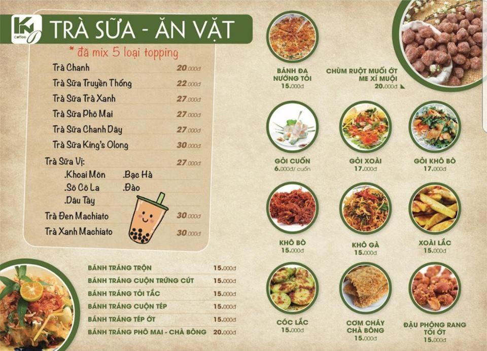 Menu thức ăn nhanh hấp dẫn và đa dạng