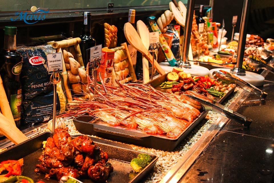 mô hình nhà hàng buffet