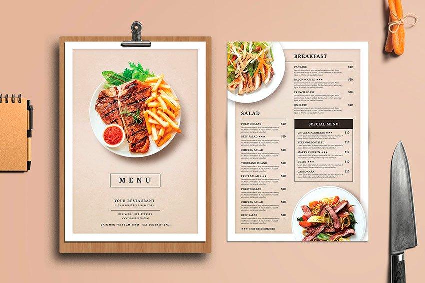 menu online của quán cafe, nhà hàng