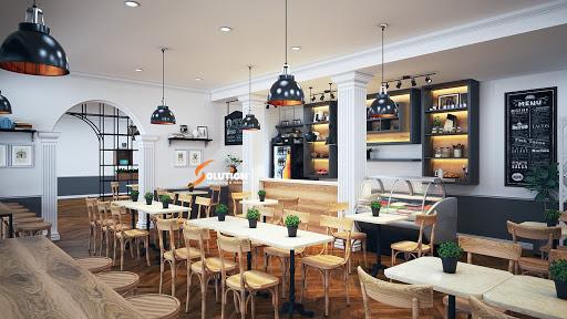 thiết kế quán cafe ngoài trời mang hơi hướng cổ điển
