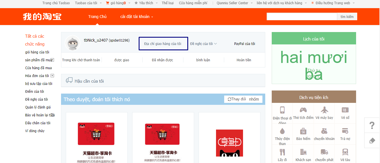 mua hàng trên Taobao bằng tiếng Việt