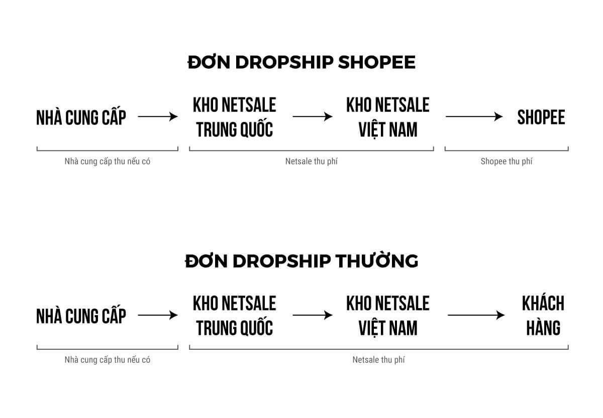 quy trình Dropshipping