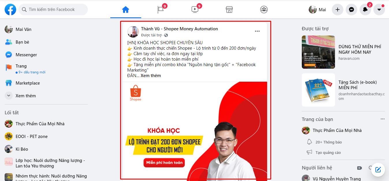 chạy quảng cáo facebook miễn phí