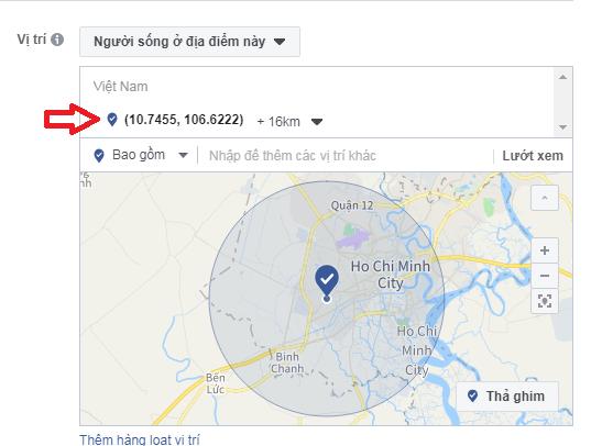 GPS vị trí target