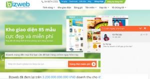 Hệ thống Live Chat hỗ trợ khách hàng tại trang chủ Bizweb
