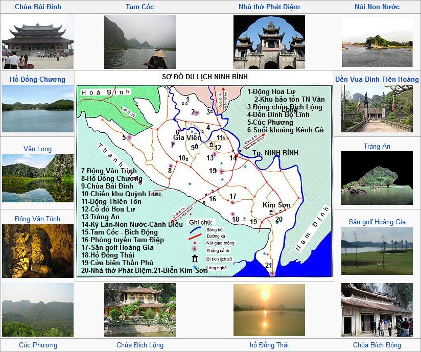 Phát triển tiềm năng du lịch qua sở hữu hoặc tự thiết kế web Ninh Bình