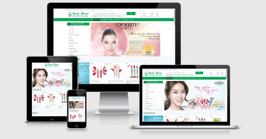 thiết kế website mỹ phẩm chuyên nghiệp