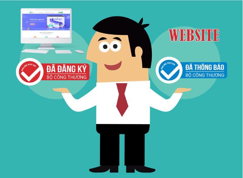 thông báo, đăng ký website với Bộ Công Thương