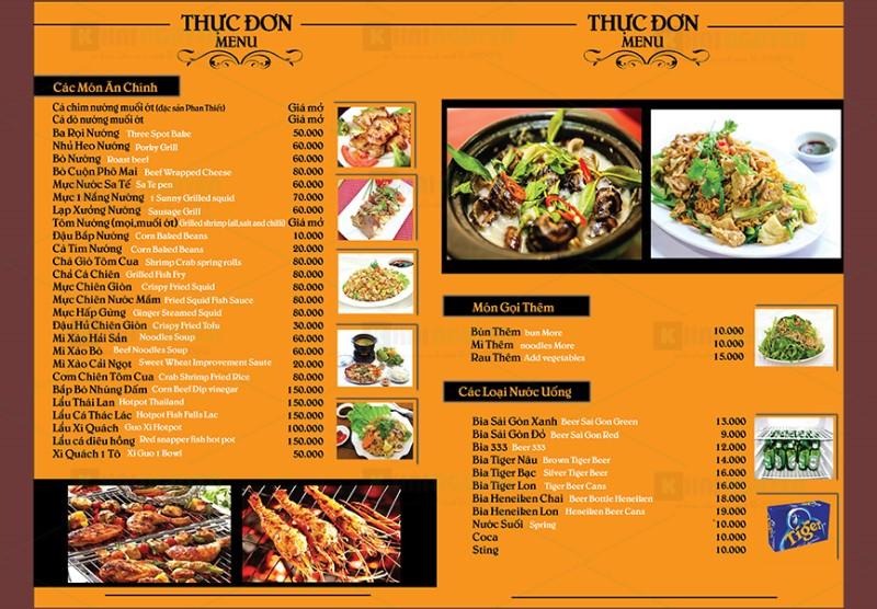 Marketing nhà hàng bằng cách chuẩn bị thực đơn độc đáo