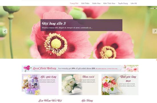 trang trí cửa hàng hoa