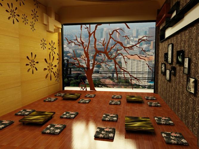 không gian quán cafe thoáng đãng