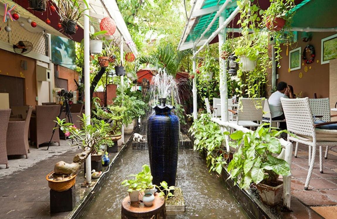 quán cafe phong cách sân vườn độc đáo
