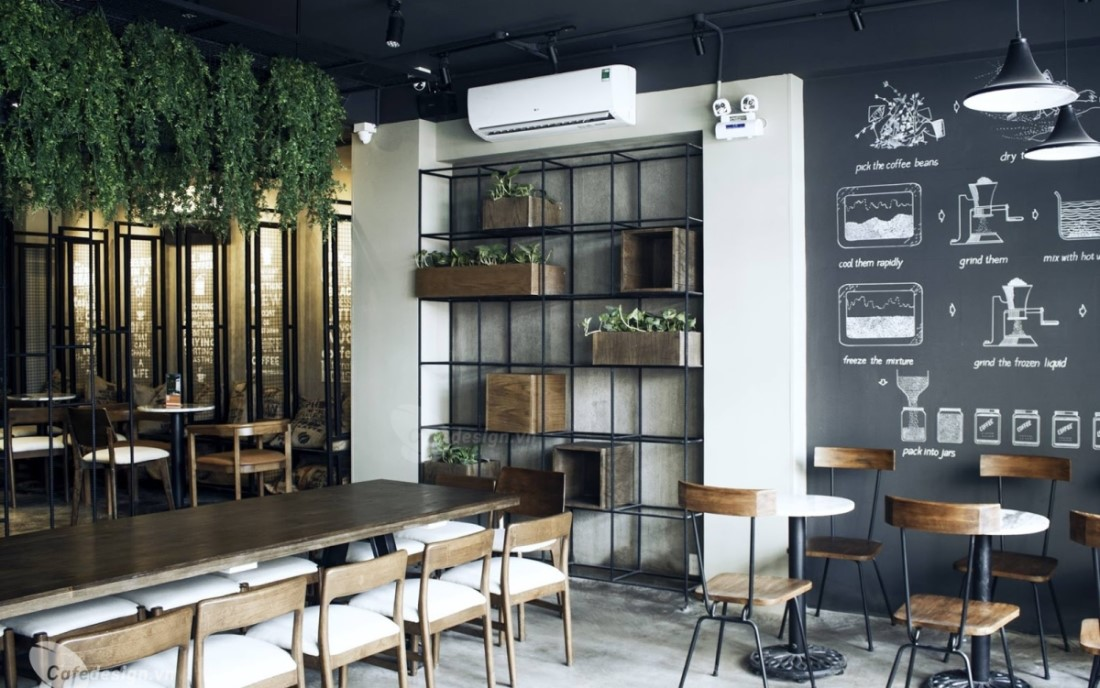 chi phí trang trí tường quán cafe