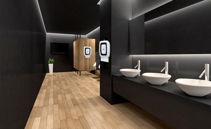 nhà vệ sinh sạch sẽ để tạo cảm giác dễ chịu cho khách hàng