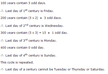 The Last Day Of A Century Cannot Be Calendar Questions Answers Sawaal