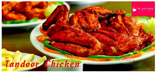 Tandoori Chicken - half, Le Arabia Vazhuthacaud, streetbell.com, www.streetbell.com