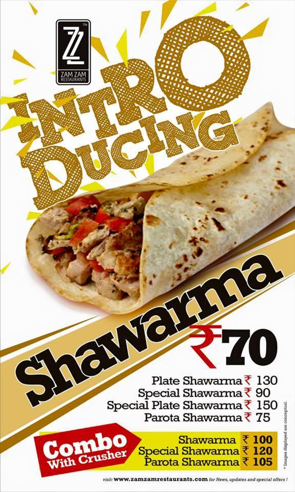 Shawarma- Plate, Zam Zam YMR, streetbell.com, www.streetbell.com