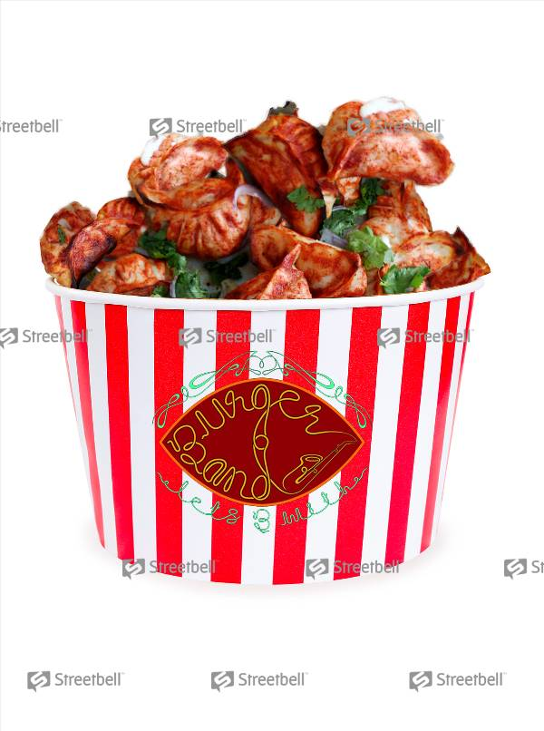 Grilled Momo Bucket- Chicken- 25pc, Burger Band, streetbell.com, www.streetbell.com