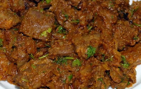 Mutton Liver Masala, Khasak Restaurant, streetbell.com, www.streetbell.com