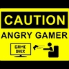 Game over gamers angry caution black background 1920x1080 wallpaper www.wallpapername.com 6