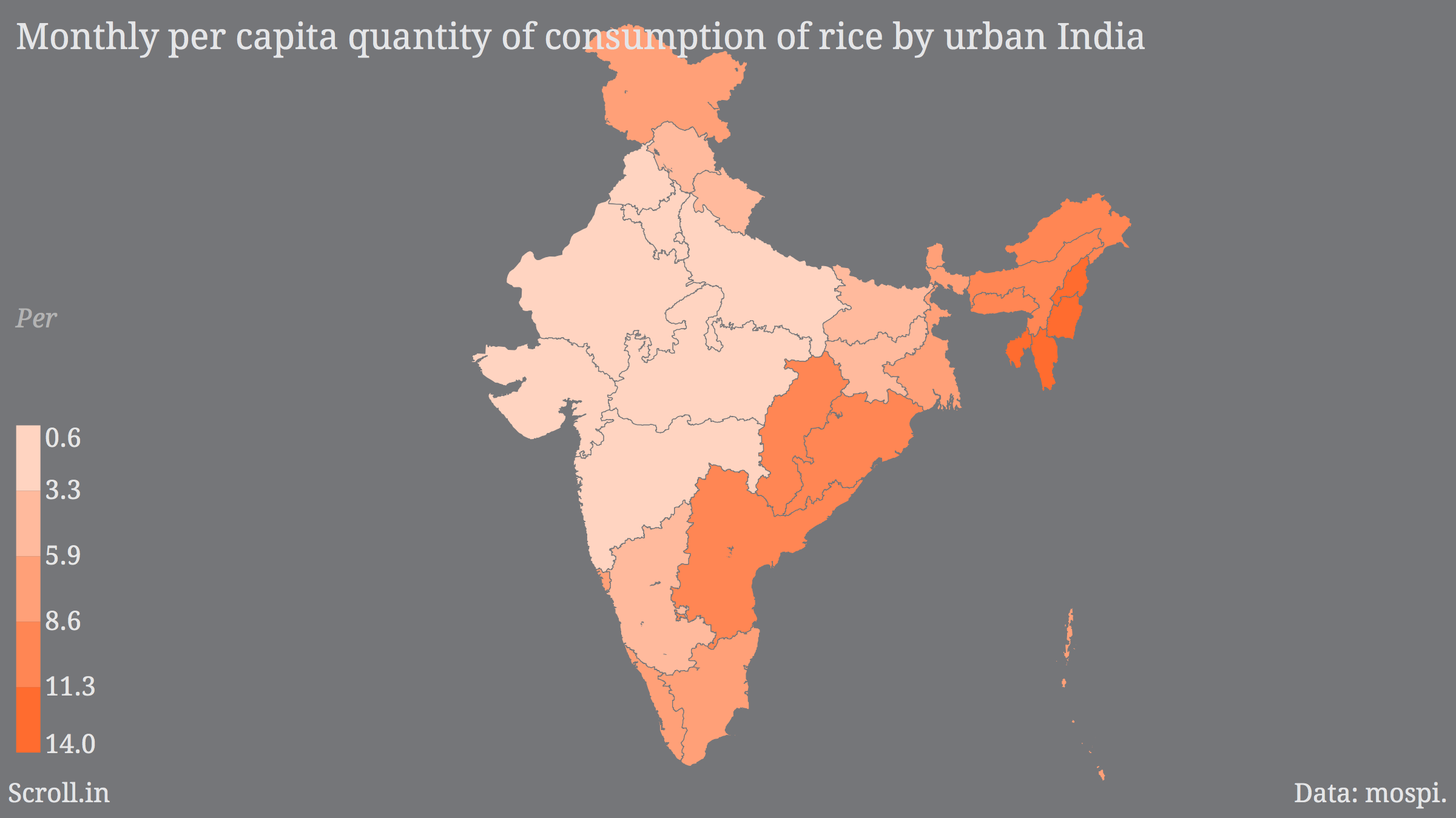 Rice and wheat maps of India: Rajasthan doesn\'t eat rice, rotis a ...