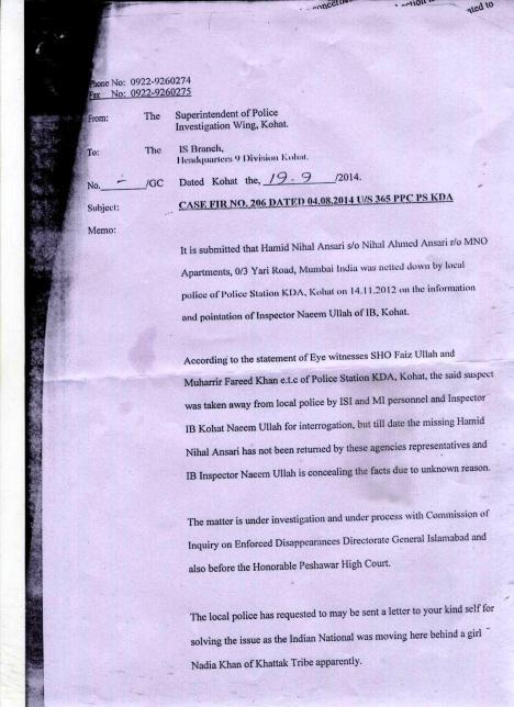 Pakistan police finally admits: we got Mumbai Romeo who came looking